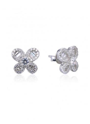 Boucles d'oreilles puces en forme de fleurs