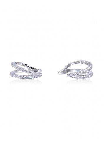 Boucles d'oreilles  anneaux horizontales