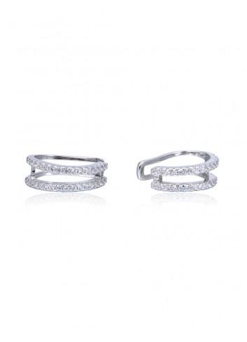 Boucles d'oreilles anneaux doubles
